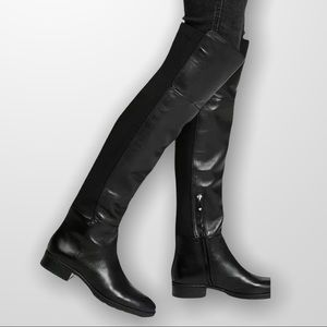 Sam Edelman Pam Over The Knee Black Leather Boots
